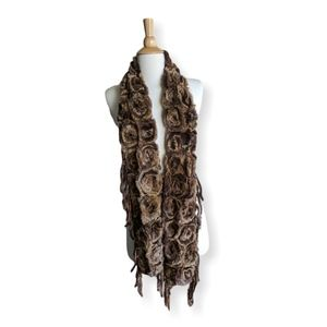 Long, super soft rabbit fur scarf
